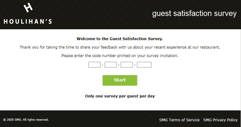 Chequers Seafood Grill Survey Webpage